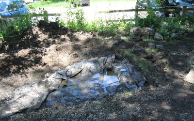 2016 – 4th & 5th July – Re-making the pond.