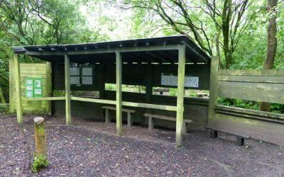 2017 – May – Painting the Bird Feeding Station.